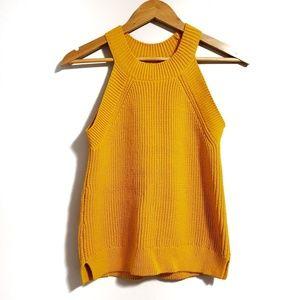 • LOFT • Yellow Mustard Knitted Sleeveless Tank